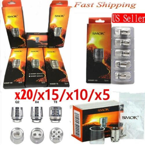 15pcs Smok TFV8 Baby Coil Head Cloud Beast Replacement For V8 T8 X4 Q2 Lot