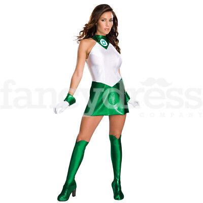 Licensed Ladies Green Lantern Fancy Dress Costume Sexy Superhero DC Comics - Green Lantern Comic Kostüm