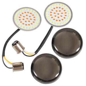 Smoke Lens Turn Signal LED Bullet Blinker Indicator Light for Harley-Davidson