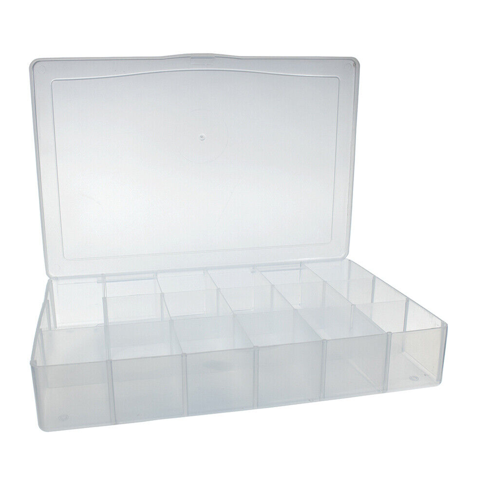 Clear White Plastic Floss Organizer and 50 Bobbins - Hold Th