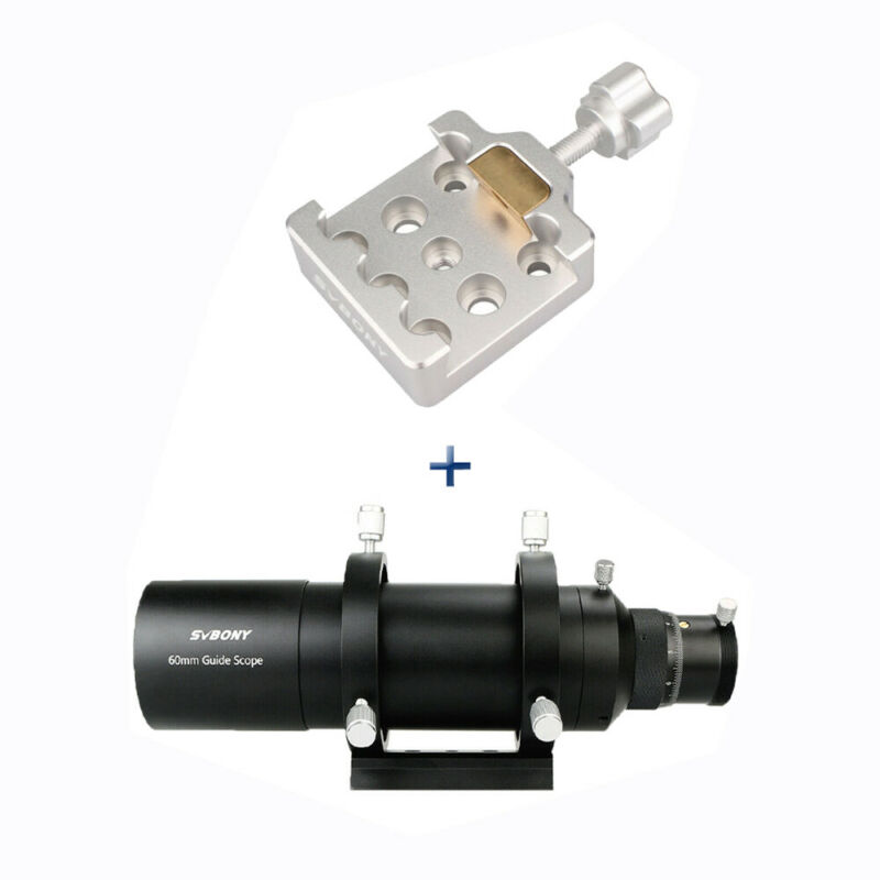 SVBONY 60mm Guide Scope with Helical Focuser CCD Astronomy Camera+Dovetail Clamp