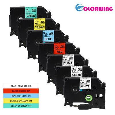 7 Pk Color Tze-131 Tz 231 431 531 631 731 Compatible Brother P-touch Label Tape