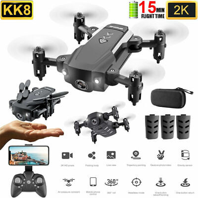 KK8 Mini Drone With Camera-Foldable 2.4G 4-AXIS FPV RC Quadcopter Wifi HD 2019