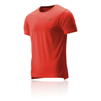 New Balance Mens Accelerate T Shirt Tee Top - Red Sports Running Breathable