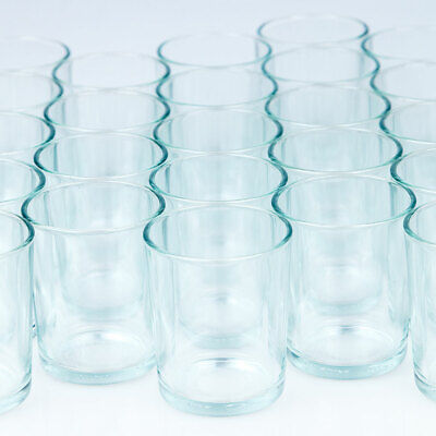 Tea Light Holders (Votive Tea Light Glass Candle Holders - Clear (2.5 Inches) (24)