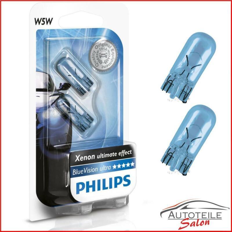 Details zu Philips W5W BlueVision Signal und Innenbeleuchtung 12961BVB2 Standlicht Parklich