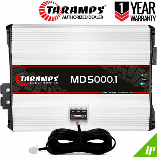 Details about  Taramps MD 5000 1 Ohm Amplifier 5000.1 Car Amp + Led Clip Monitor