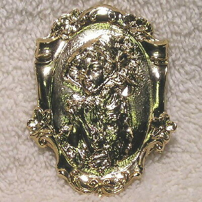 Sterling Vermeil Red Riding Hood Brooch Pin