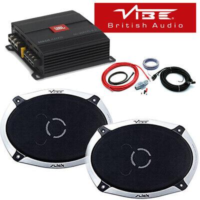 Vibe Slick 69.2-V4 6x9 2-Way Shelf Speaker & JBL Stage A6002 Amp...