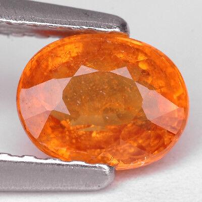 1 Ct. Charming Intense Color Orange Mandarin Garnet Gem WITH GLC CERTIFY Intense Mandarin Orange