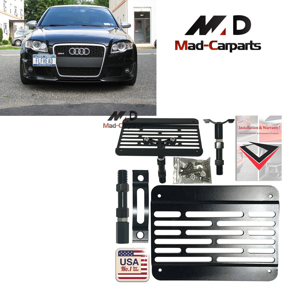 Bumper Tow Hook License Plate Relocation Kit For Audi A4 A5 S4 S5 RS5