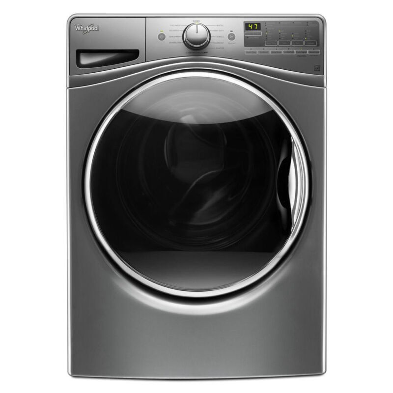 Whirlpool 4.5 Cu. Ft. 11-Cycle Front-Loading Washer Chrome shadow WFW85HEFC