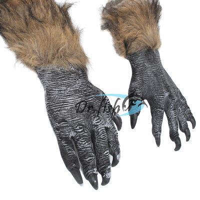 Halloween Wolf Claws (Scariest Werewolf Gloves Halloween Wolf Hands Cosplay Claws Costumes Men)