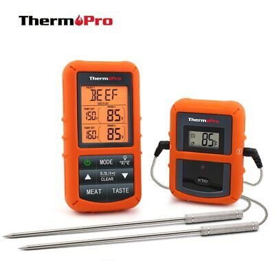 ThermoPro TP-20 Remote Wireless Digital BBQ Oven Thermometer Home Use Stainless