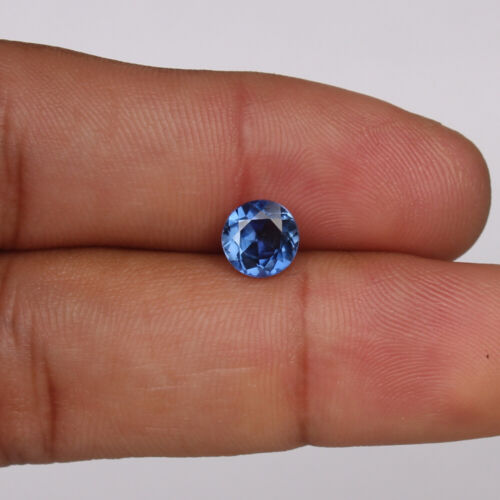 Natural Blue Sapphire Ceylon Cornflower 1.95 Ct Round Loose Certified Gemstone