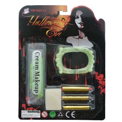 Childrens Vampire Makeup Set + Vampire Teeth Fancy Dress Halloween Party Makeup