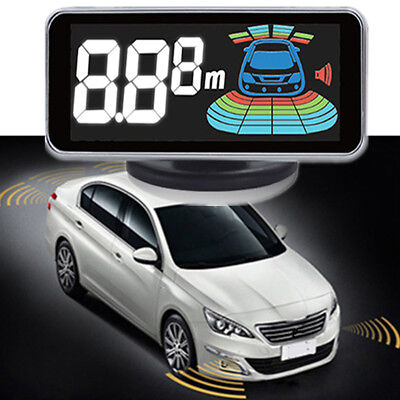 Used, Car Parking Aid System Kit 8x Reverse Sensors Radars Distance LCD Display Beeper for sale  Shipping to Canada