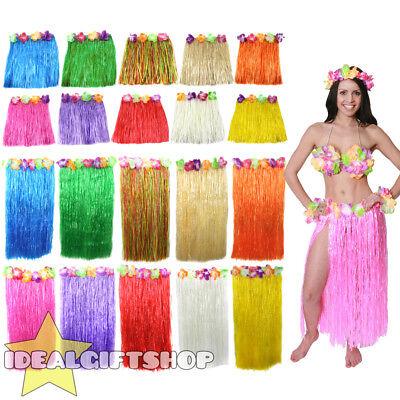 HAWAIIAN MENS WOMENS COUPLES COSTUME FANCY DRESS ZULU HULA GIRL OUTFIT BEACH (Couple Costumes Girls)