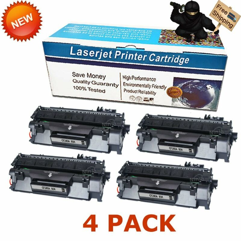 4Pk Black Toner Cartridge for HP CF280A 80A LaserJet Pro 400 M401dn M401n M425dn