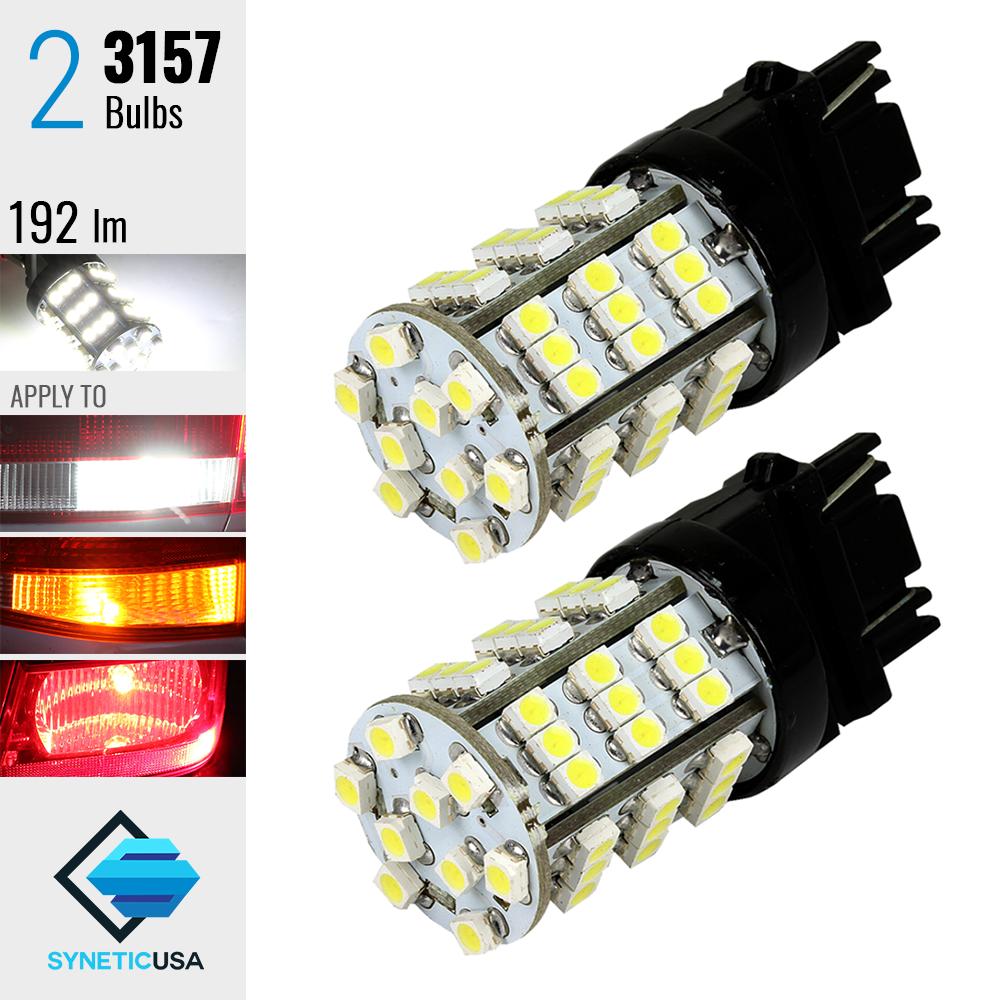 Syneticusa:2x 7443//7441 6000K White 24-LED 2016-Chip Reverse Backup Lights Bulbs
