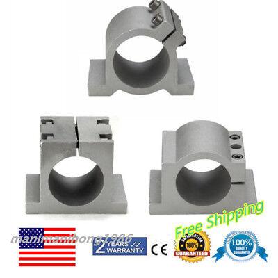 Spindle Motor Mount Bracket Clamp For Cnc Engraving Machine 65mm80mm 2 Screws