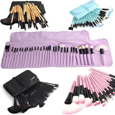 32pcs Makeup Brush Soft Muticolor Yuwaku Pro Eyebrow Shadow  Set Kit + Pouch Bag