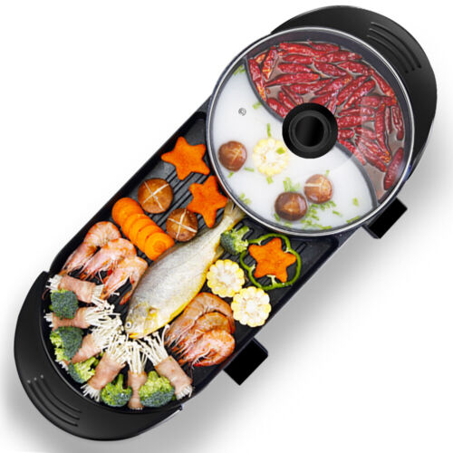 2 in 1 portable electric hot pot