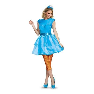 Cookie Monster Halloween Costume Female (Sesame Street Cookie Monster Costume Sweetheart Women's Fancy Dress)