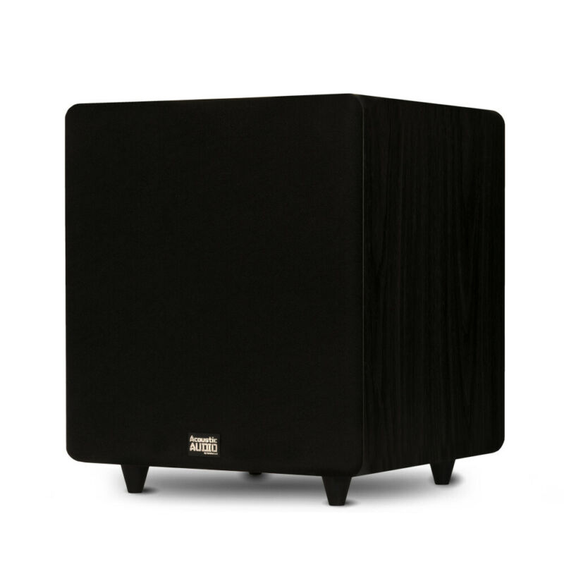 """Acoustic Audio PSW500-12 Home Theater Powered 12"""" LFE Subwoofer Front Firing Sub"""