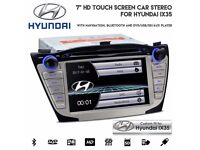 "Hyundai IX35 7"" HD Touchscreen Radio Bluetooth Navigation CD DVD Player USB SD Aux Car Stereo"