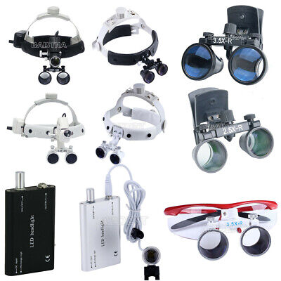 Dental Loupes Surgical Binocular Glass Medical Magnifier Led Head Light 9model