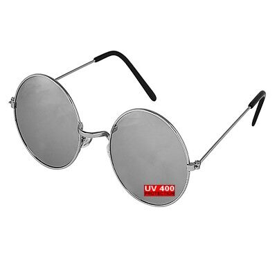 GENTS CLOBBER > Vintage Retro Mirrored Round Circle 60's Mens Sunglasses (Gents Sunglasses)