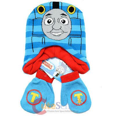 Thomas The Tank Engine Freidns Beanie Mitten Gloves Set - Blue Stripe Thomas