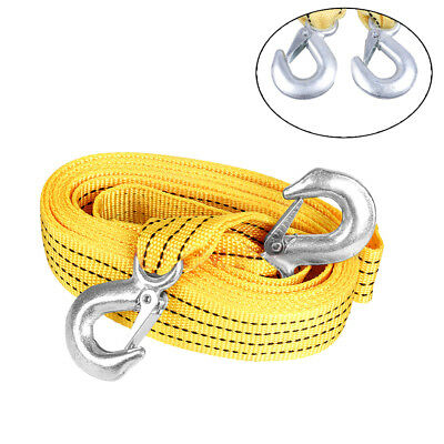 Heavy-Duty 3Tons 10FT Tow Winch Strap Towing Rope Cable for Emergency Recovery