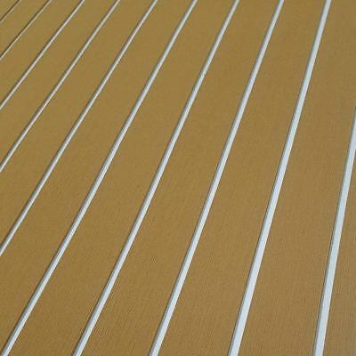 Eva Car Mat Fish Boatsurfboard Decking Teak Flooring Brown Pad Mat 35.4 X 94.5