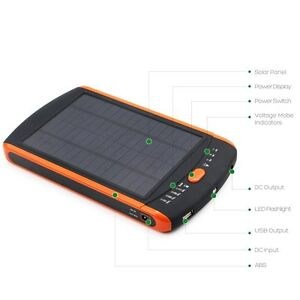 23000mAh High Capacity Solar Panel Charger Multi-Voltage Battery Pack Laptop