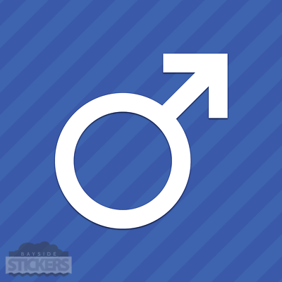 Male Mars Gender Symbol Vinyl Decal Sticker