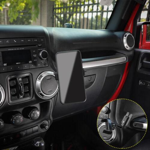 Black JeCar Multi-Functional Phone Holder Radio Holder Walkie Talkie Mount Bracket for Jeep Wrangler 2 in 1 Bolt-on Stand Bracket for 1997-2006 Jeep Wrangler TJ
