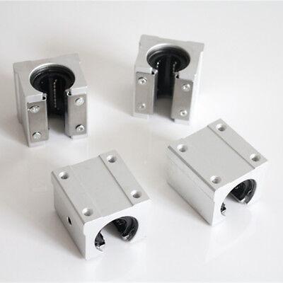 4Pcs SBR20UU Aluminum 20mm Linear Ball Bearing Block Router for Linear CNC