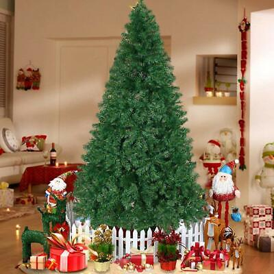 7FT Pre-Lit Bushy Christmas Trees 100 LED Lights Warm White Xmas Indoor Outdoor ()