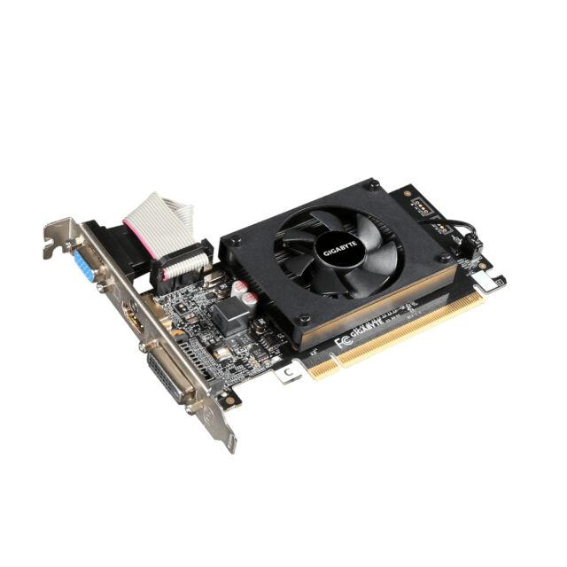 Gigabyte GV-N710D3-2GL NVIDIA 2GB graphics card GT710 DDR3, DVI-D / D-Sub / HDMI