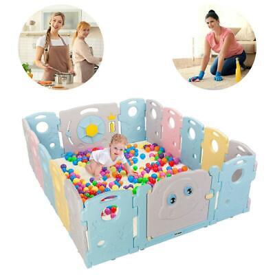 JOYMOR 16 Panels Baby BPA-Free Safety Rubber Anti-Skid Playpen Play Yards Kids