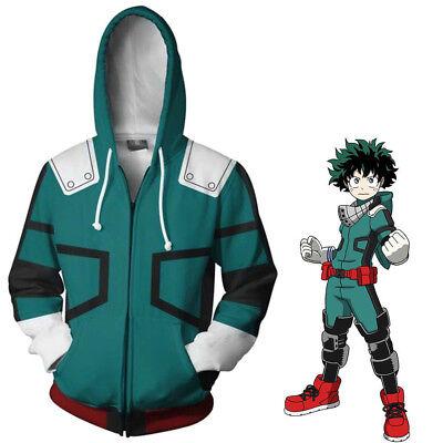 My Hero Academia Boku Izuku Midoriya Cosplay Costume Halloween Jacket Hoodie