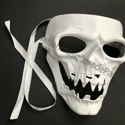 DIY Halloween Day of the Dead Polyresin Perfect Painting Skull Purge Kissme Mask ()