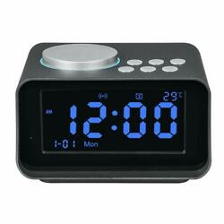Smart Bluetooth Speaker K6 Multifunction Electronic Alarm Clock Large LCD Screen