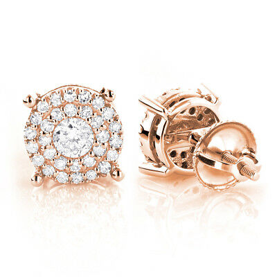 1.00TCW Real Round Diamond Certified Stud Earring 14K Rose Gold At Best