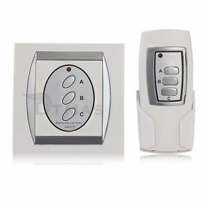 interrupteur digital sans fil t l commande 3 voies contr le lampe ebay. Black Bedroom Furniture Sets. Home Design Ideas