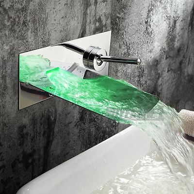 A waterfall tap will create a calming effect