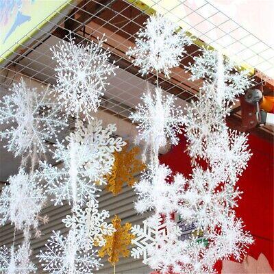 Schneeflocke Schnur Verzierung Weihnachtsweihnachts klassische Dekoration ED ()