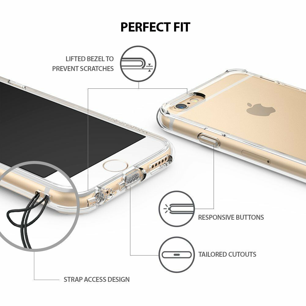 For iPhone 6 / 6S Plus   Ringke [FUSION] Clear Shockproof Protective Case Cover